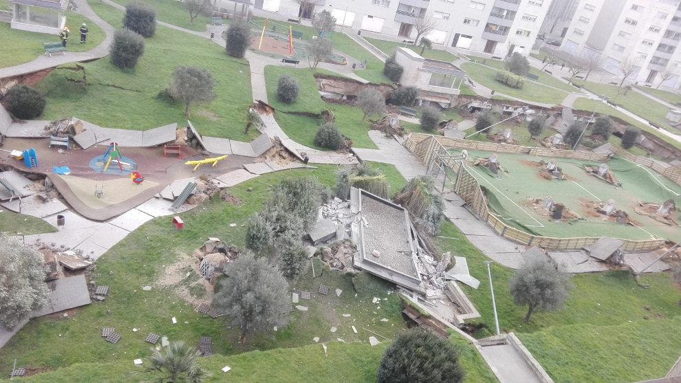 Obras Públicas prevé comenzar las obras de los garajes de Nueva Montaña afectados por el derrumbe en diciembre