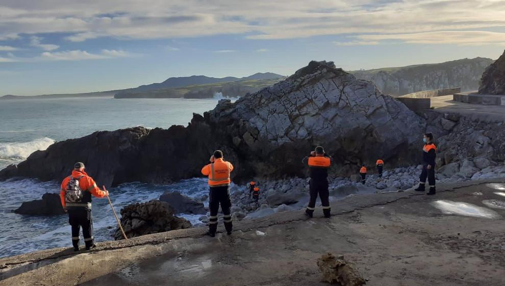 Se reanuda por tierra, mar y aire la búsqueda del vecino de Miengo desaparecido