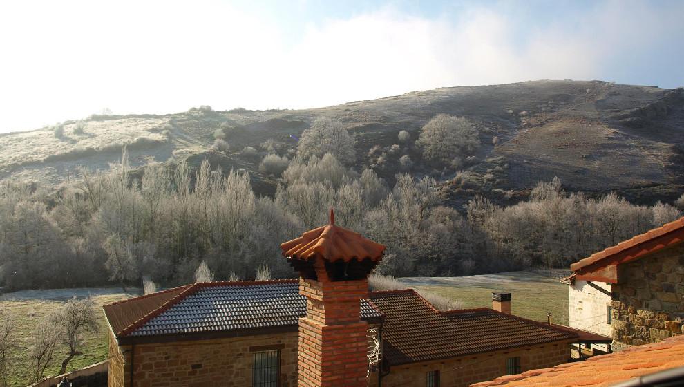 Valderredible despierta con cuatro grados bajo cero