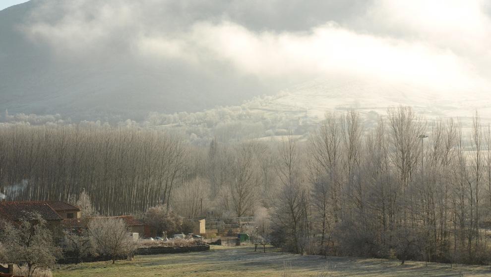 Valderredible roza los 3 grados bajo cero, la tercera mínima de España