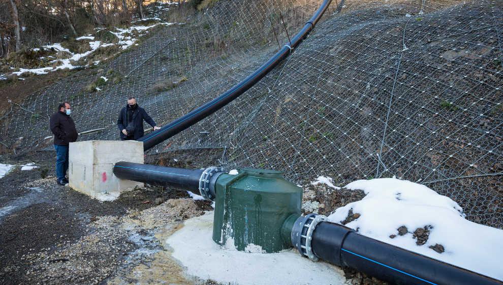 Reabierto el punto limpio y reparada la red de saneamiento dañada por un argayo en 2018