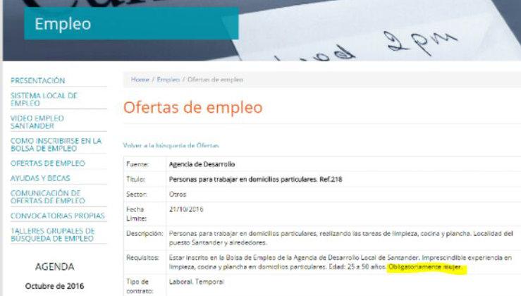 39a6186e5f245 Una oferta de empleo para limpiar