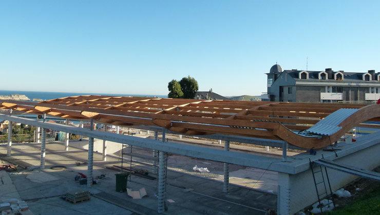 Avanzan a buen ritmo las obras para cubrir y climatizar la piscina municipal - Piscina municipal santander ...