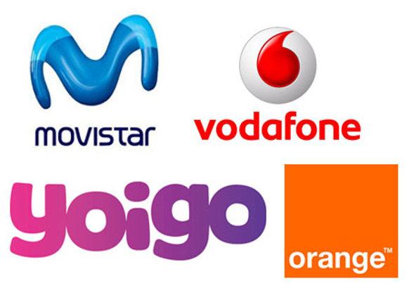 fd9ecd53f73 Logotipos de las operadoras de telefonía móvil que incurren en prácticas  abusivas. Foto: Público