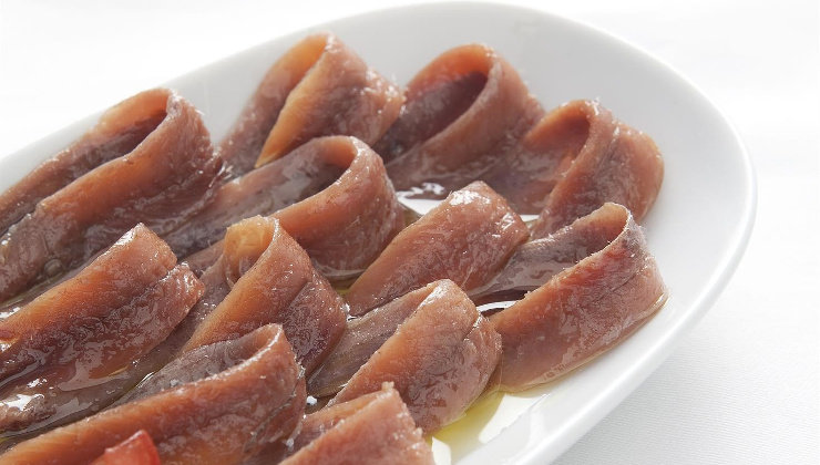 Plato de anchoas