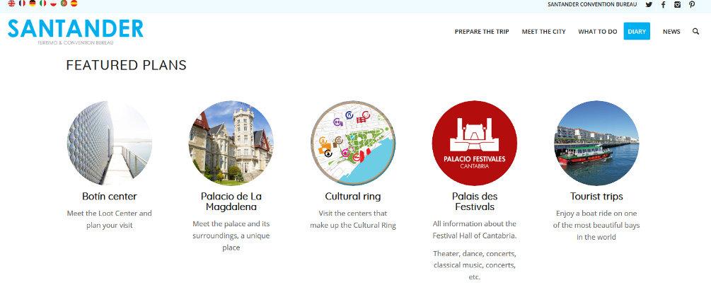 Traducción al inglés de la web de turismo del Ayuntamiento de Santander en la que Botín ha sido traducido por 'loot'