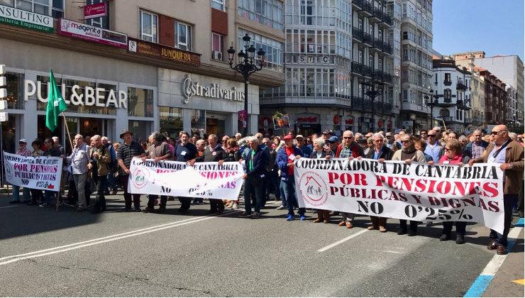 Manifestación pensiones 5 de mayo