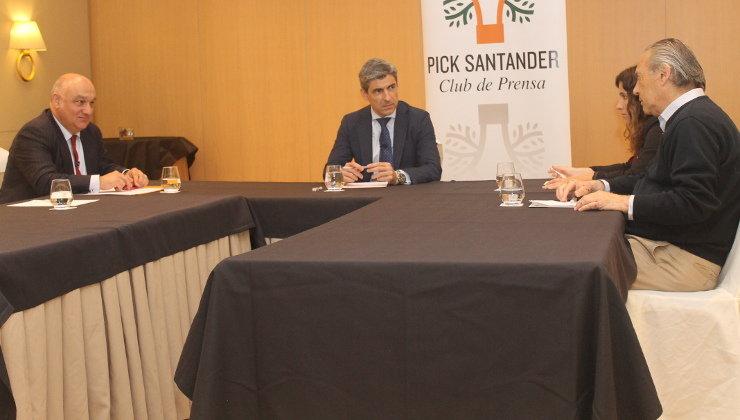 El director general del Grupo Igualatorio, Pablo Corral, durante la entrevista en el Club de Prensa Pick. Foto: edc