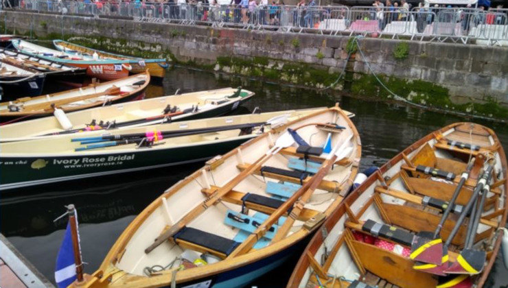 Traineras participantes en la Ocean to City del Cork Harbour Festival