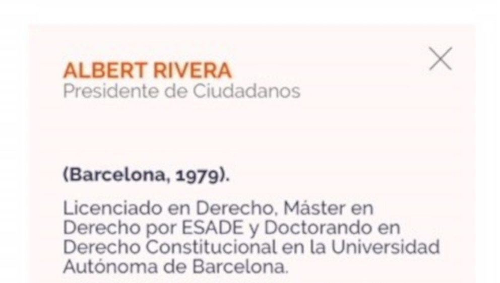 Calendario Uab.La Uab Niega Que Rivera Sea Doctorando En Su Universidad Como