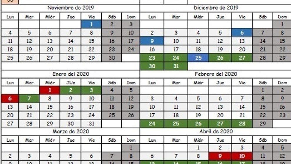 Calendario Escolar 18 19 Cantabria.Publicado El Calendario Escolar Para El Curso 2019 20