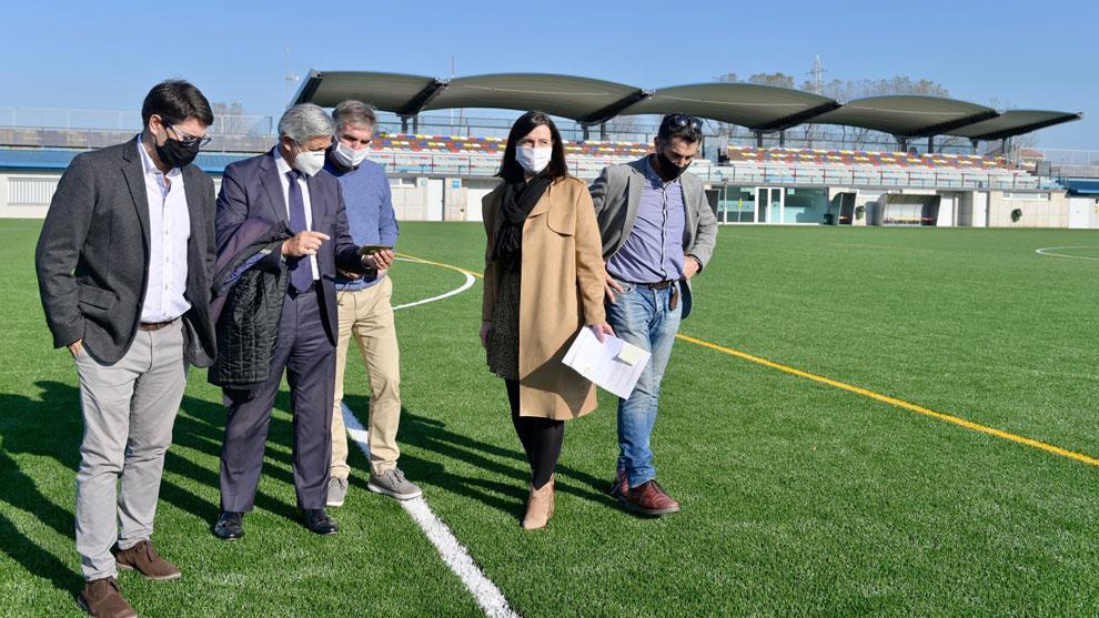 Finalizan las obras del campo de fútbol y rugby de San Román